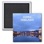 Cork at Night, Ireland 2 Inch Square Magnet