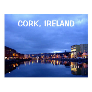 Cork at Night, Ireland Postcard