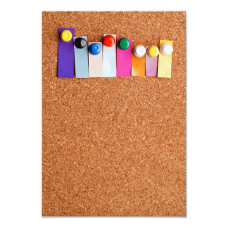 Cork board and colorful heading for eight letter w card