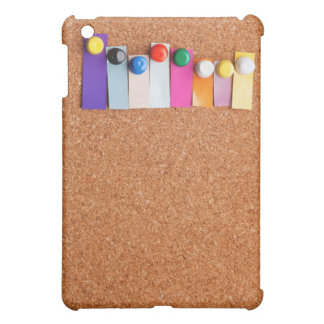 Cork board and colorful heading for eight letter w iPad mini covers