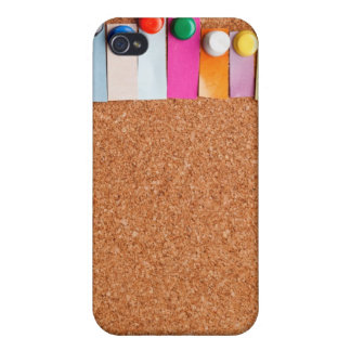 Cork board and colorful heading for eight letter w cases for iPhone 4