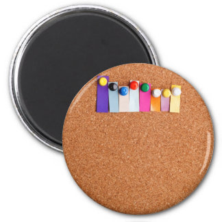 Cork board and colorful heading for eight letter w magnet