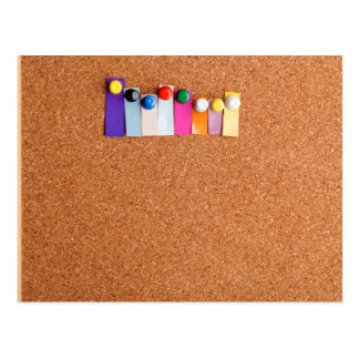 Cork board and colorful heading for eight letter w postcard