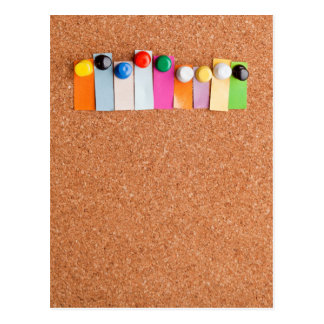 Cork board and heading for nine letter word postcard