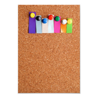Cork board and heading for seven letter word card