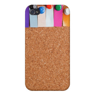 Cork board and heading for seven letter word covers for iPhone 4