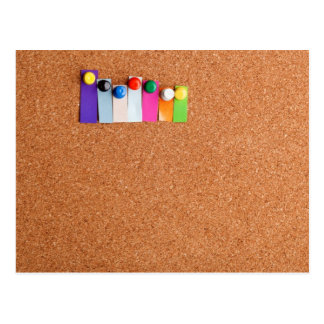 Cork board and heading for seven letter word postcard