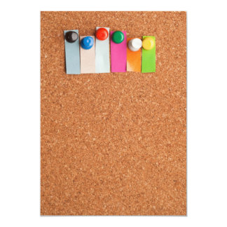 Cork board and heading for six letter word card