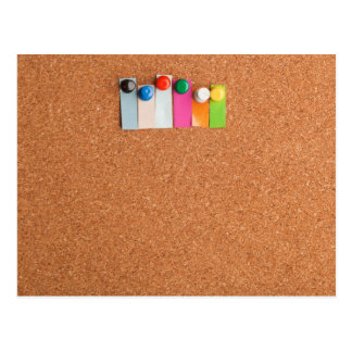 Cork board and heading for six letter word postcard