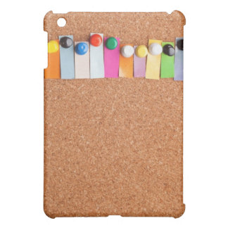 Cork board and heading for ten letter word iPad mini cases