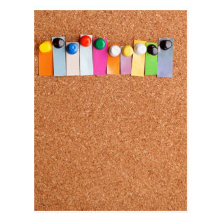 Cork board and heading for ten letter word postcard