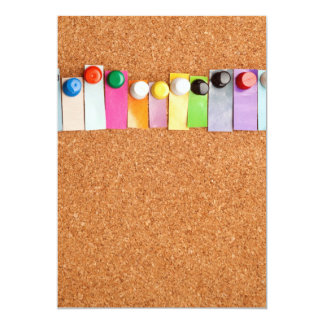 Cork board and heading for twelve letter word card