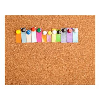 cork board flyer templates