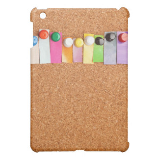 Cork board and heading for twelve letter word iPad mini cover