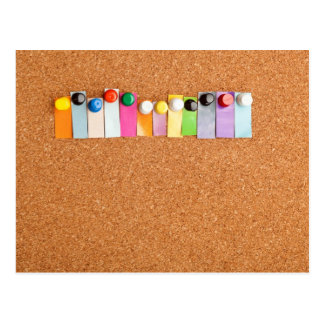 Cork board and heading for twelve letter word postcard