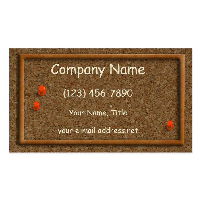Cork Board Business Card