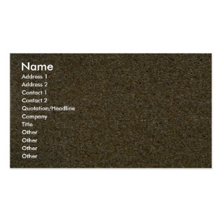 Cork board business cards