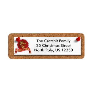 Cork Board Christmas Label