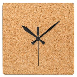 Cork Board Square Wall Clocks