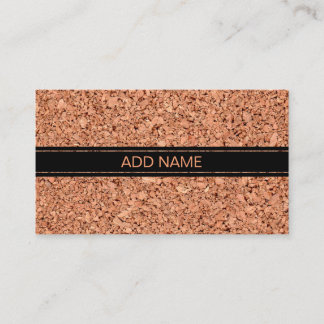 Cork Board with Customizable Text Business Card