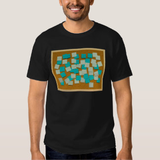 Cork board with sticky notes t-shirts