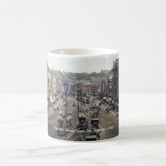 Cork city Ireland mug, vintage Patrick's Street Coffee Mug