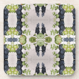 Cork Coaster : Abstract Watercolor Olive Print