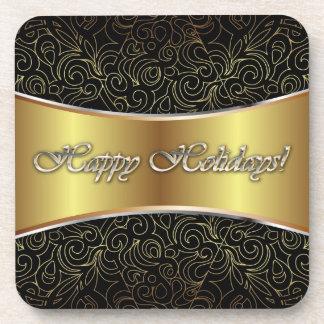 Cork Coaster Happy Holidays
