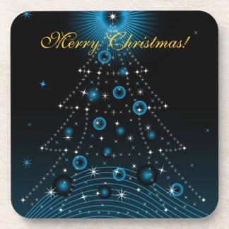 Cork Coaster Merry Christmas tree