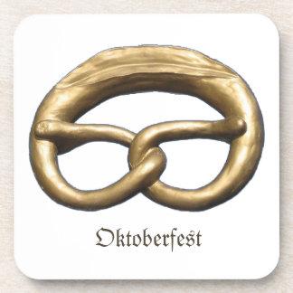 Cork Coaster: Oktoberfest Pretzel Bakery Sign Drink Coaster