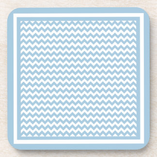 Cork Coaster or Table Mat, Blue and White Chevrons