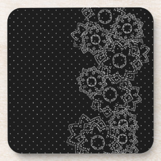 Cork Coaster Polka Dot and Flowers