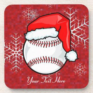 Cork Coaster - Santa Baseball