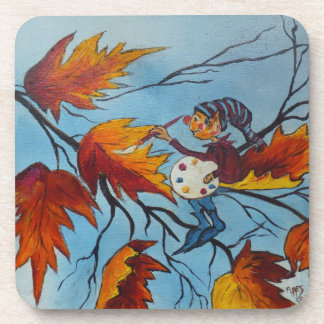 Cork Coaster Set Ann Hayes Pixie Painting