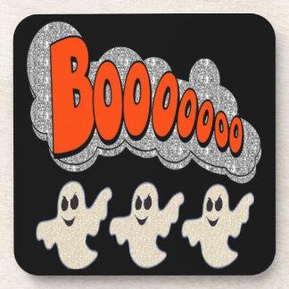 Cork Coaster Set Boo Ghosts