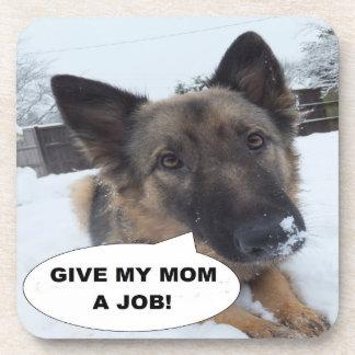 Cork Coaster Set German Shepherd Give My Mom A Job