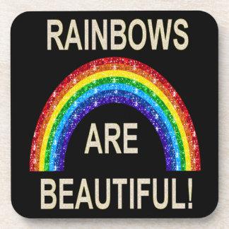 Cork Coaster Set Rainbows Are Beautiful Glitter