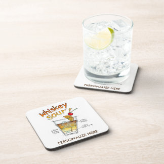 CORK COASTER SETS, WHISKEY SOUR COCKTAIL RECIPE