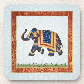 Cork Coaster white grey blue red gold Elephant