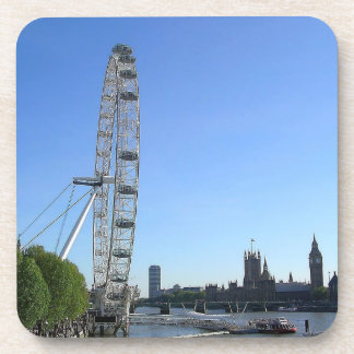 Cork Coaster with London Eye Ferris Wheel