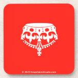 [Crown upside down]  Cork Coasters