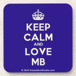 [Crown] keep calm and love mb  Cork Coasters