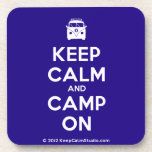 [Campervan] keep calm and camp on  Cork Coasters