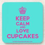 [Cupcake] keep calm and love cupcakes  Cork Coasters