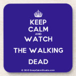 [Crown] keep calm and watch the walking dead  Cork Coasters