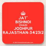 [Crown] jat' bishnoi chadi jodhpur rajasthan-342312  Cork Coasters