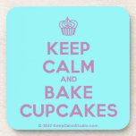 [Cupcake] keep calm and bake cupcakes  Cork Coasters