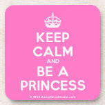 [Crown] keep calm and be a princess  Cork Coasters