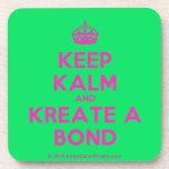 [Crown] keep kalm and kreate a bond  Cork Coasters