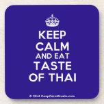 [Crown] keep calm and eat taste of thai  Cork Coasters